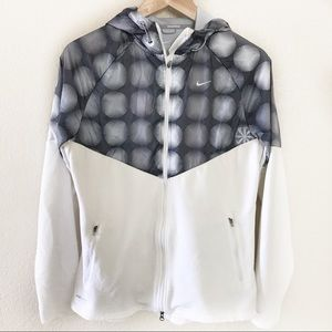Nike | White Gray Fanatic Hooded Jacket